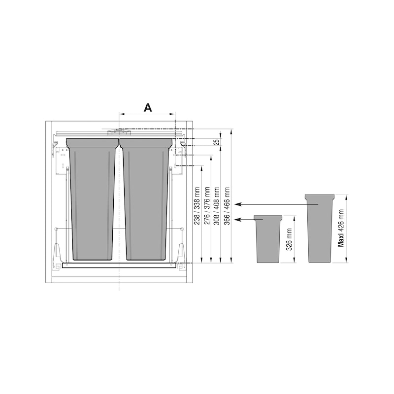 Sistema per la raccolta differenziata VS ENVI Flex e VS ENVI Flex Pro - 2