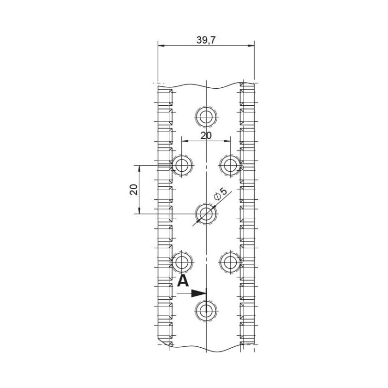 Windrispenband WZ - WINDRSPBA-EN14545-(Z275)-40X1,5MMX50M