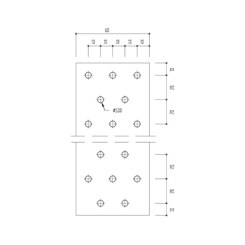 Lochplatte - LOPL-60X140X2,0