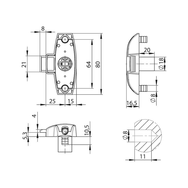 Drehstangenschloss MS 5000 - 2
