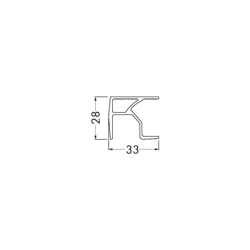 Schiene für Faltschranktürbeschlag - ZB-LAUFSCH-SHIEBTR-FT/FTA-25-50AV-2995MM