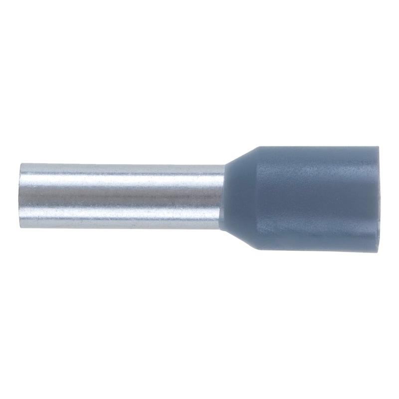 Wire end ferrule with plastic sleeve - WENDFER-DIN46228-CU-(J2N)-GREY-4,0X10,0
