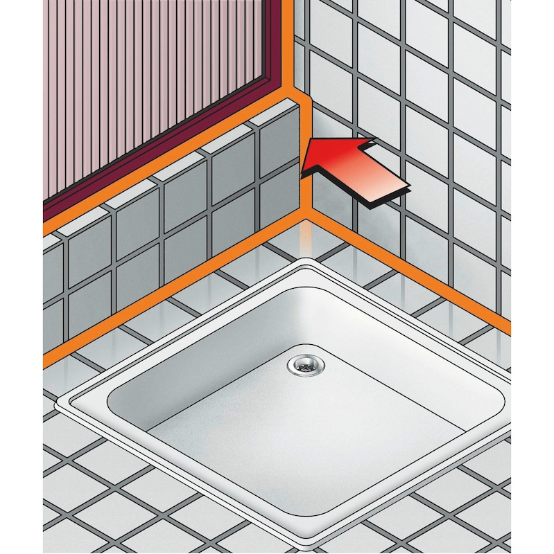 Silicone acetate bathroom unit - SILSEAL-ACE-WETROOM-BLACK-310ML