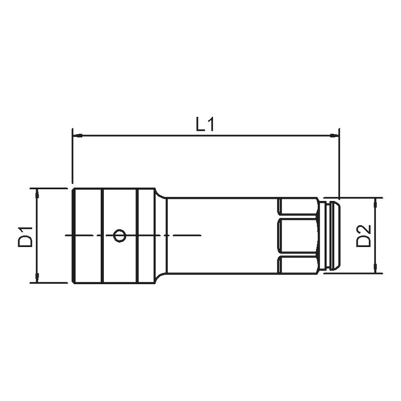 Durchsteckschlüssel Verlängerung POWERDRIV - 2