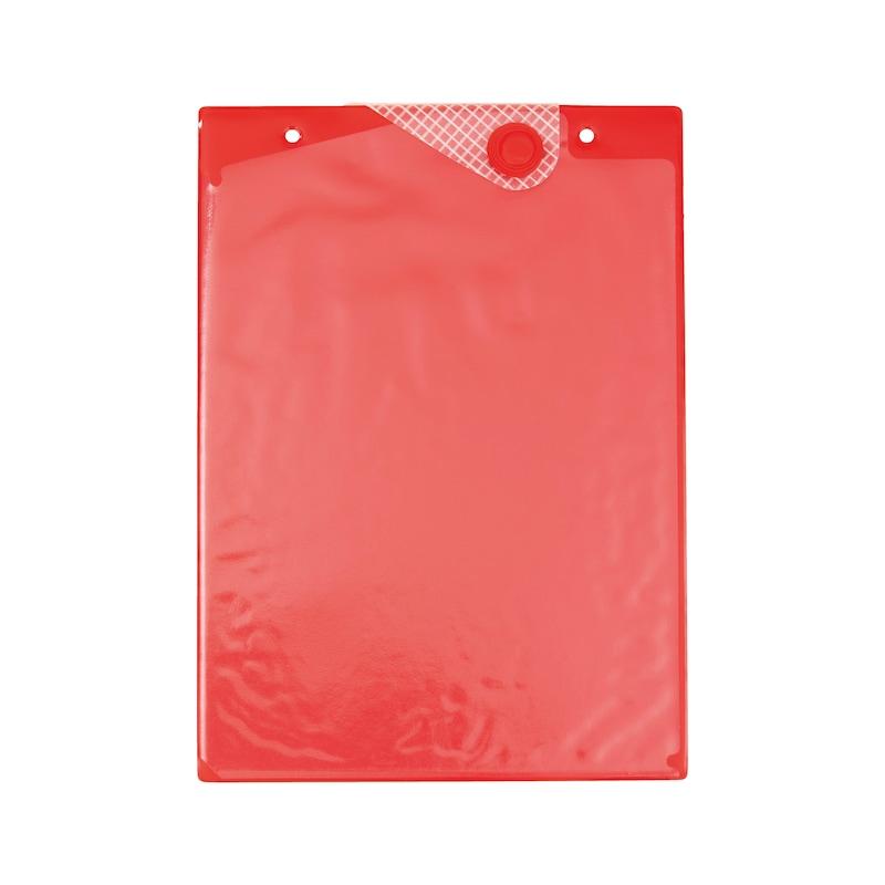 Ochranné puzdro na dokumenty smagnetickým uzáverom - OBAL NA DOKUMENTY DINA4 MAGNET - CERVENY