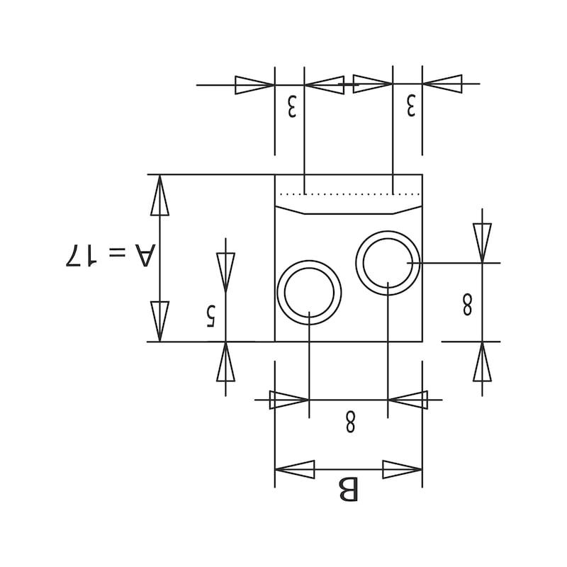 Schließhaken - SPNVERSHL-HAK-G-ST-(ZN)-BLAU-17X15MM