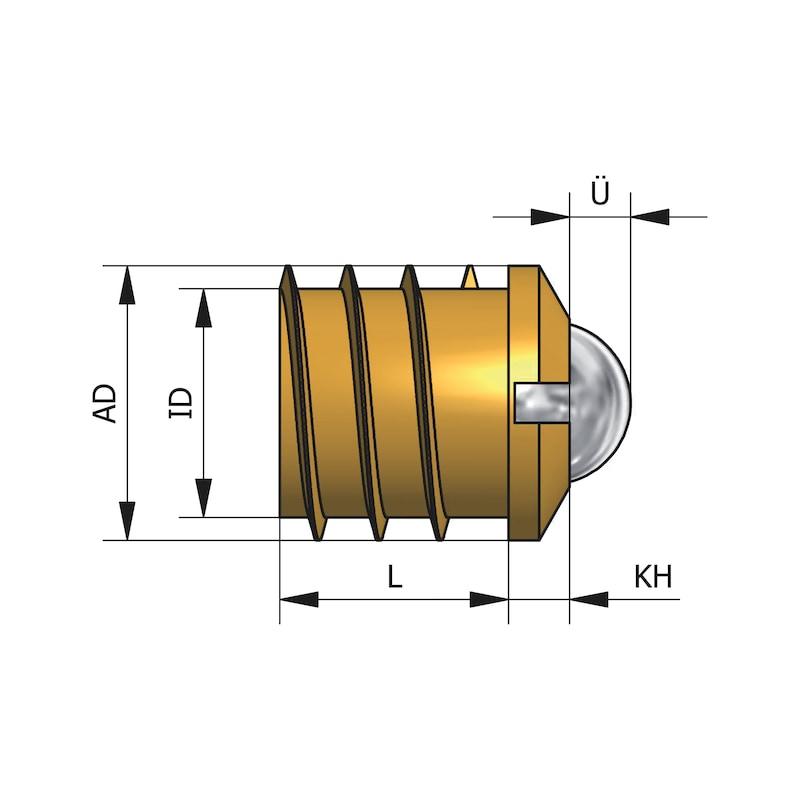 Kugelschnäpper zum Eindrehen - SCHNAEP-KUGEL-ST-(MS)-EINDREHEN-D14MM