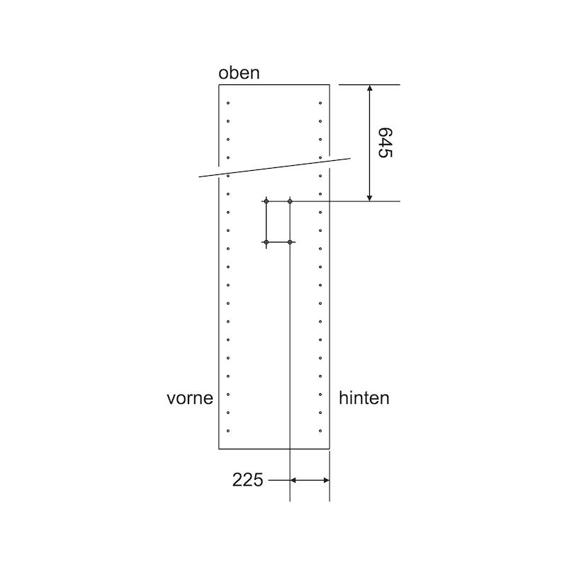 Kleiderlift KL 15 S - KLEIDLFT-KL15S-15KG-(480-600MM)