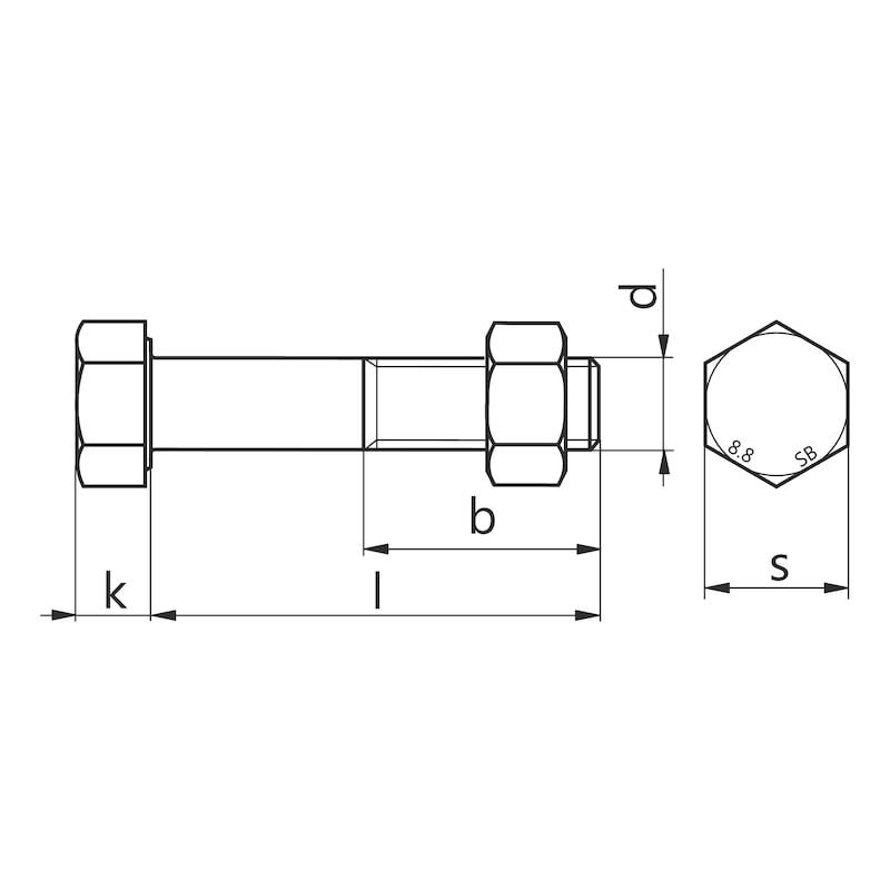 Assiemi strutturali SB con filetto parziale EN 15048-1 - 2
