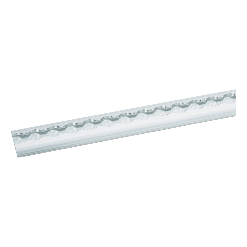 Aluminium airline lashing rail, semi-circular - 1