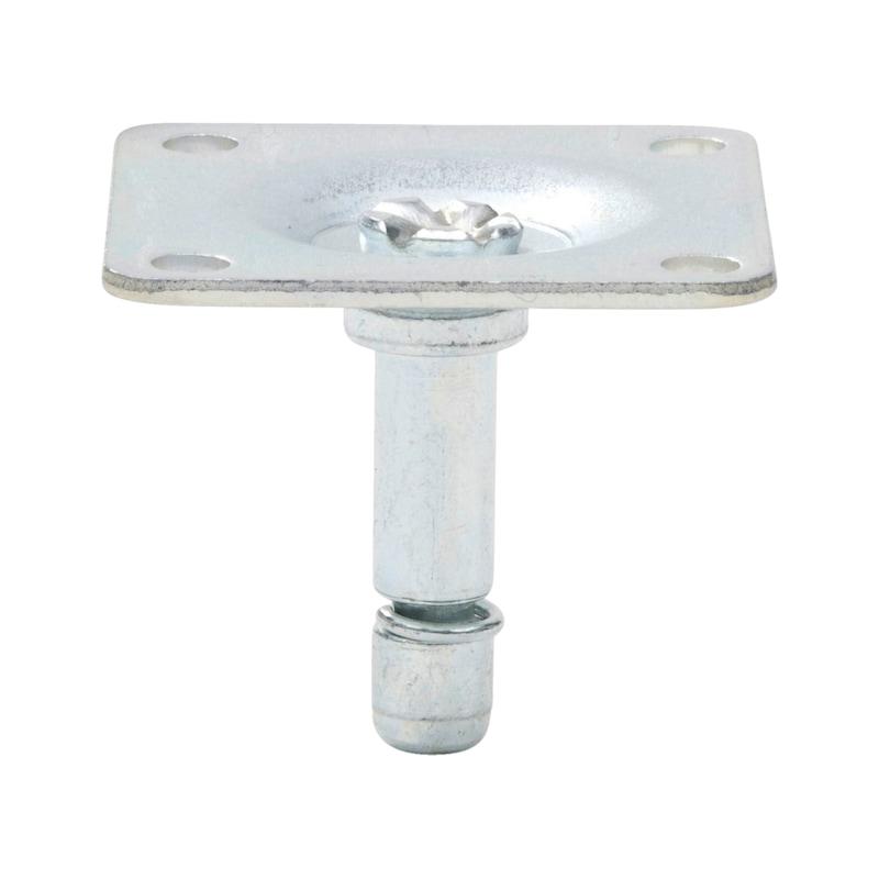 Anschraubplatte für Möbelrolle - 2