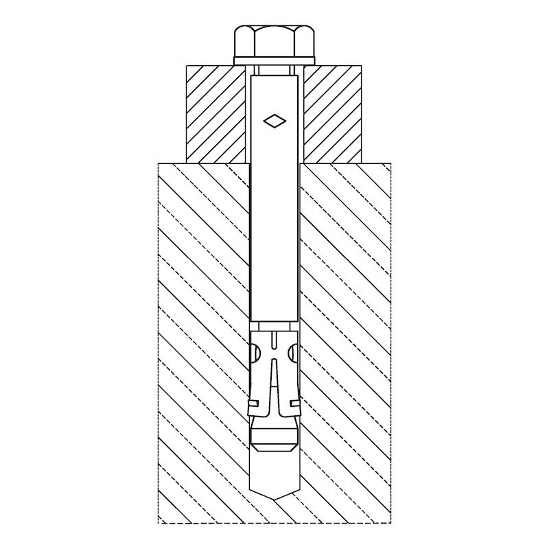 Fixanker Innengewinde W-FAZ-IG/A4 - Durchsteckmontage - 2