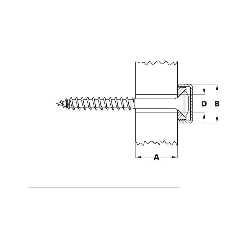 Distanzhalter/Türschildhalter Typ 1 - DISTHALT-TYP1-MEDIUM-EDELSTAHL-D14MM