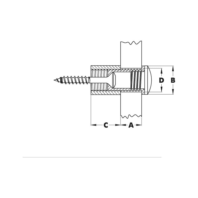 Distanzhalter/Türschildhalter Typ 3 - 2