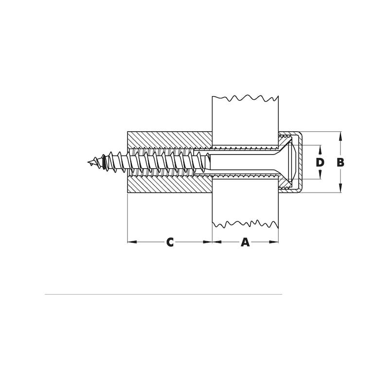 Distanzhalter/Türschildhalter  Typ 2 - 2