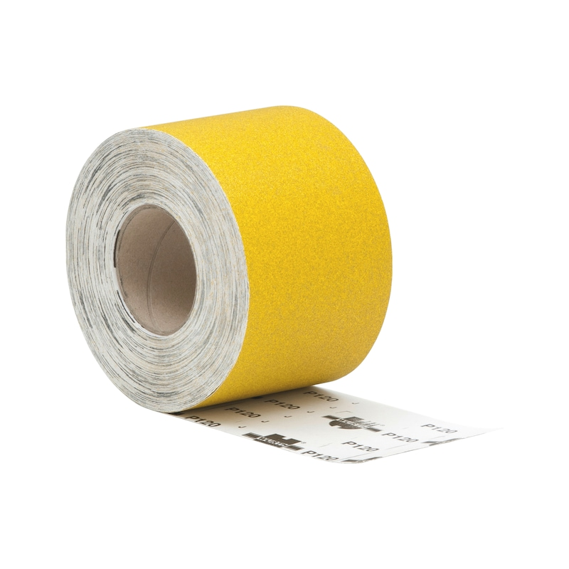 Rouleau de papier abrasif pour bois, oxyde d'aluminium jaune (corindon)