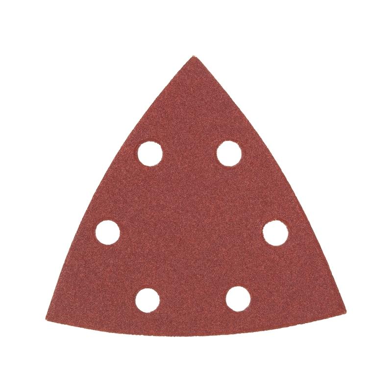 Trockenschleifpapier-Dreieck Holz KP perfect - TSPAP-KLETT-3ECK-KPC-DELTA-6LO-P240-90MM
