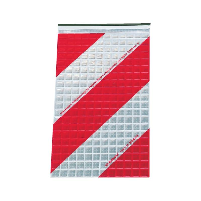 Warnflagge - WARNMARK-LINKSWEISEND-250X400