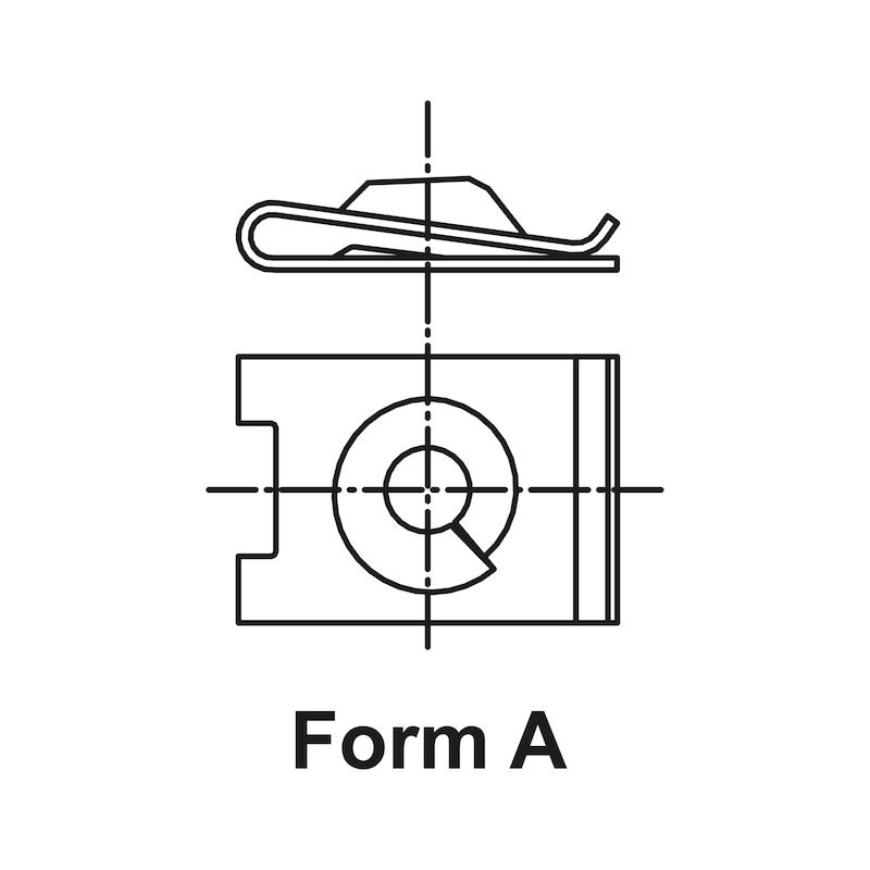 板金ナット タイプ1 - VW/AUDIクリップ ピアスナット 4.8MM