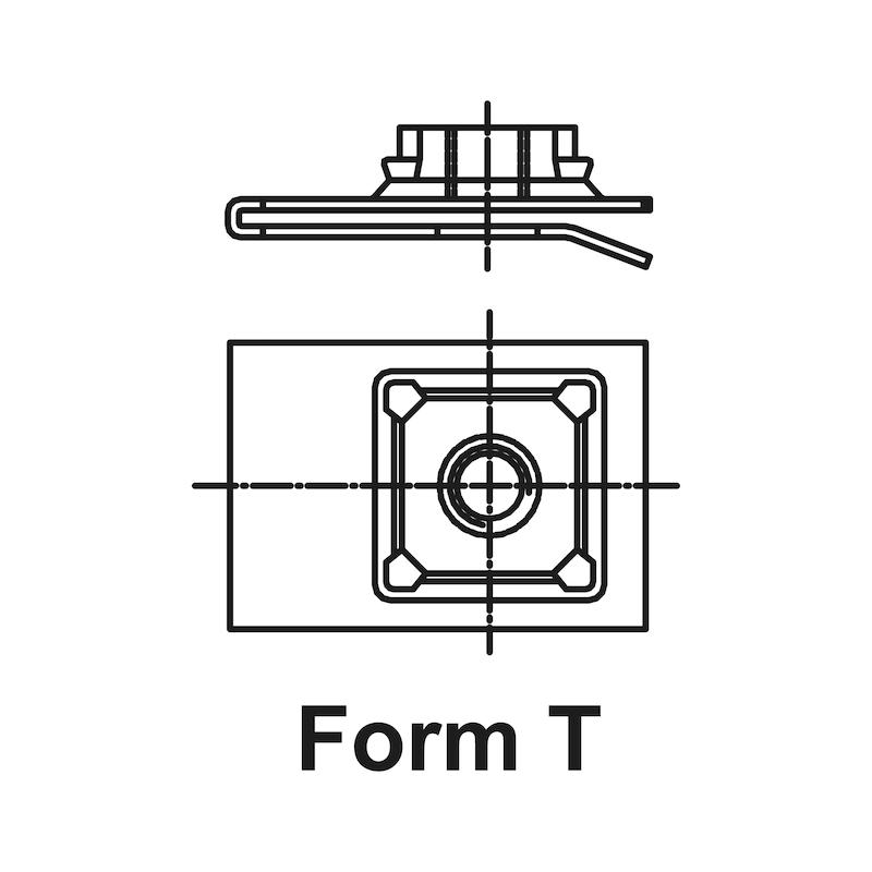 Гайка из листового металла, тип 9 - 2