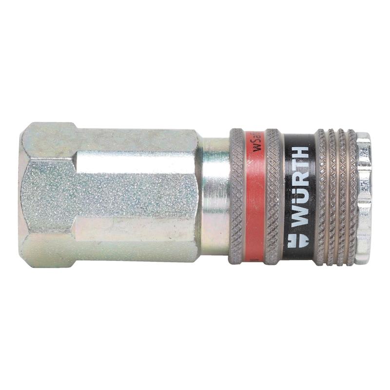 Druckluft Sicherheitskupplung wSafe<SUP>®</SUP> 2000 mit Innengewinde