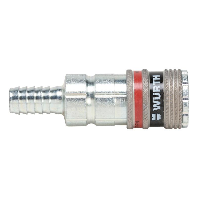 Druckluft Sicherheitskupplung wSafe<SUP>®</SUP> 2000 mit Schlauchanschluss