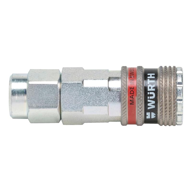 Druckluft Sicherheitskupplung wSafe<SUP>®</SUP> 2000 mit Komfortanschluss