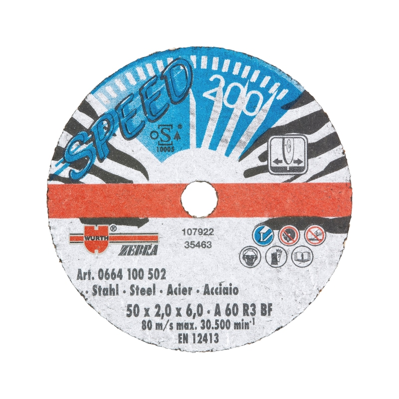 Speed cutting disc for steel - CUTDISC-SP-BLUE-ST-SR-TH2,0-BR6-D50MM