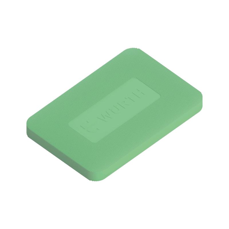 Mounting block - ASBMYBLOCK-GREEN-5,0MM-L40MM