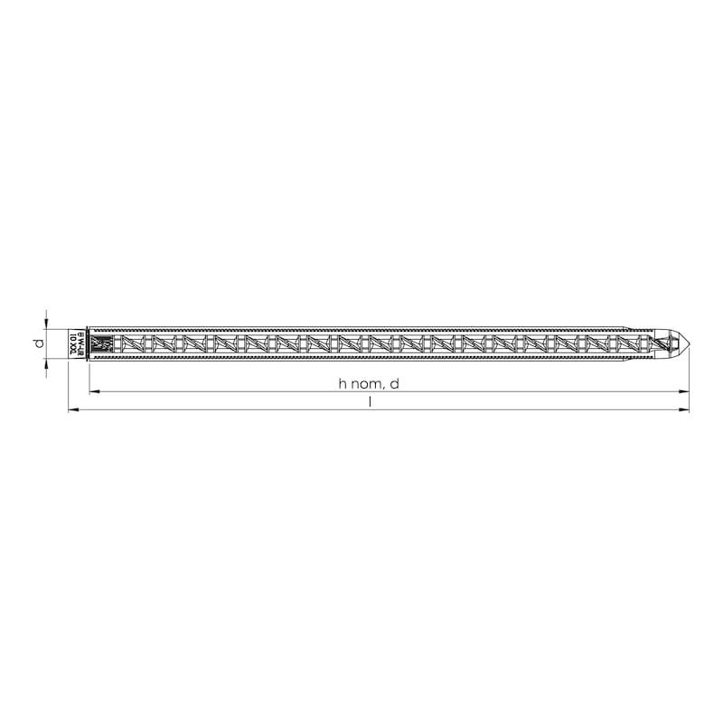 Abstandsmontageschraube AMO<SUP>®</SUP>-Combi 7,5/11,5 - SHR-(AMO-COMBI)-AW30-A2K-7,5/11,5X150