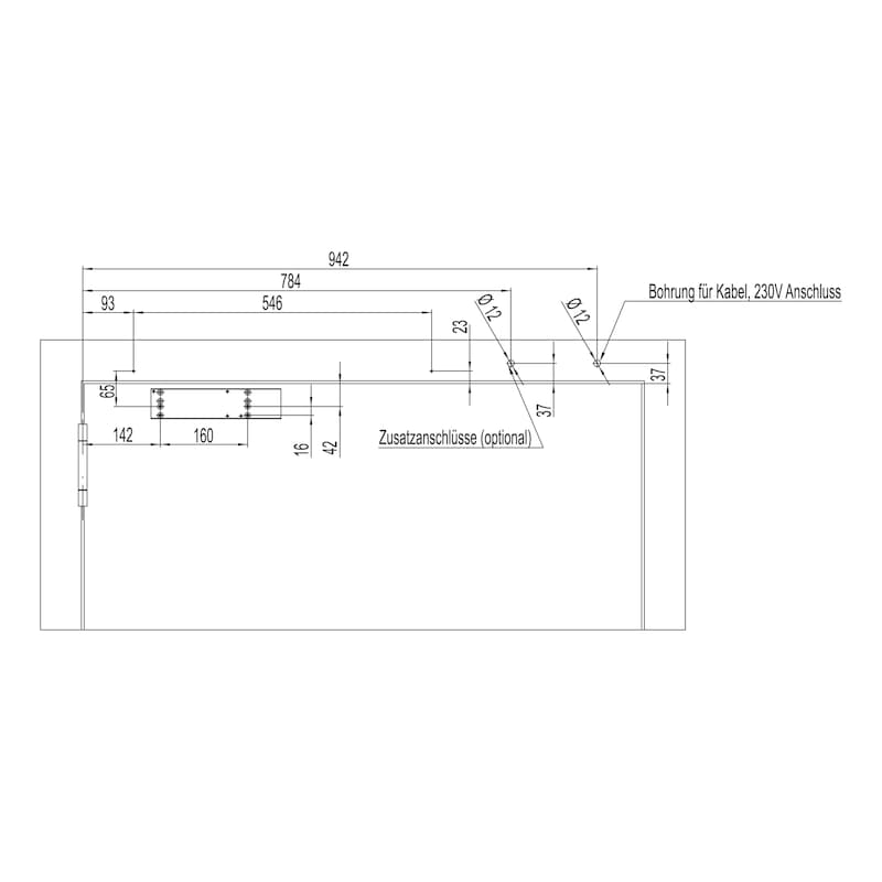 Elektromagnetische Feststellanlage Mit Gleitschienentürschließer GTS 690 mit integriertem Rauchmelder mit Netzgerät - 3