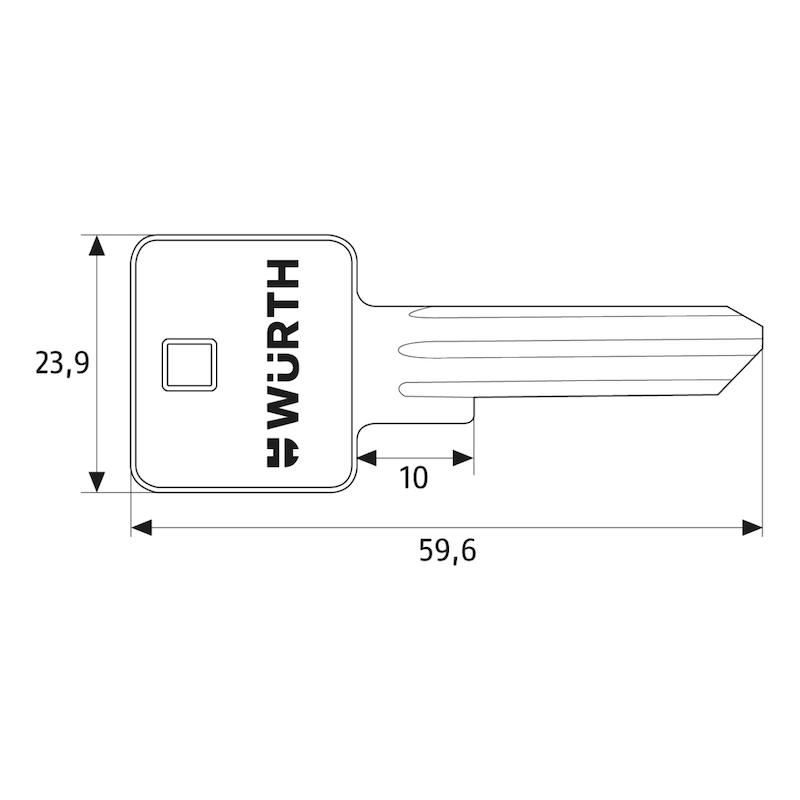 Schlüsselrohling für Lagerzylinder NP - 2