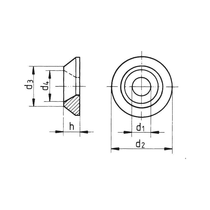 Unterlagscheibe mit Senkung 90 Grad - 2