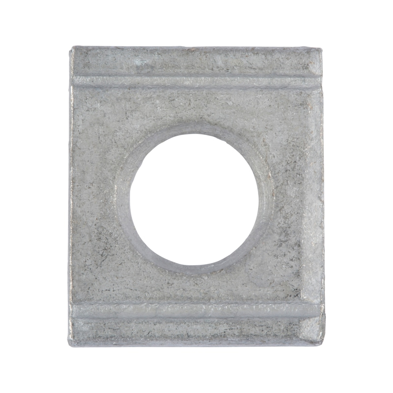 Scheibe, vierkant, keilförmig für HV-Schraube an U-Profil - 1