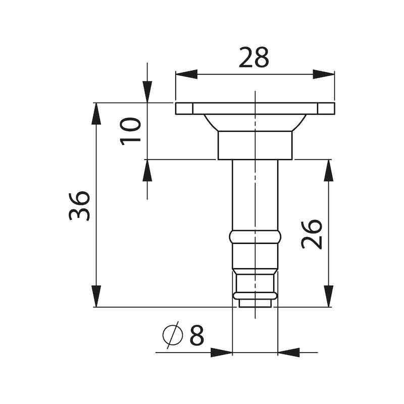 Прикруч. пластина 28 x 28 мм/38 x 38 мм - AY-SCREWPLATE-FRNLOK-28X28MM