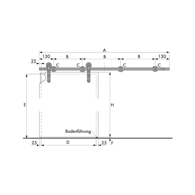 Zimmerschiebetürbeschlag VIDRO 101-G - 2