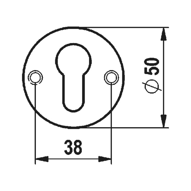 Türdrücker  A 205 - TD-A2-A205-CLICKFIX-ROS-PZ-MATT