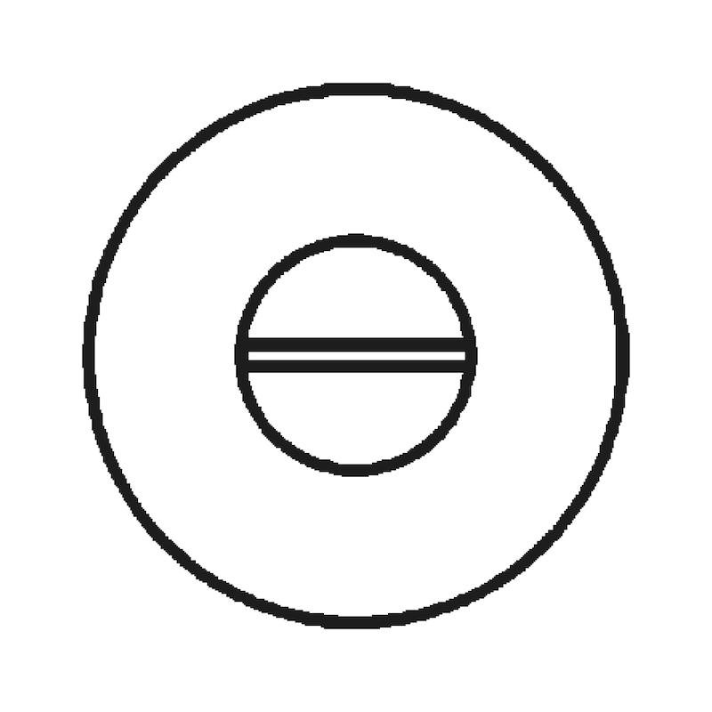 Door handle  A 205 - DH-A2-A205-CLICKFIX-ROS-WC-MATT