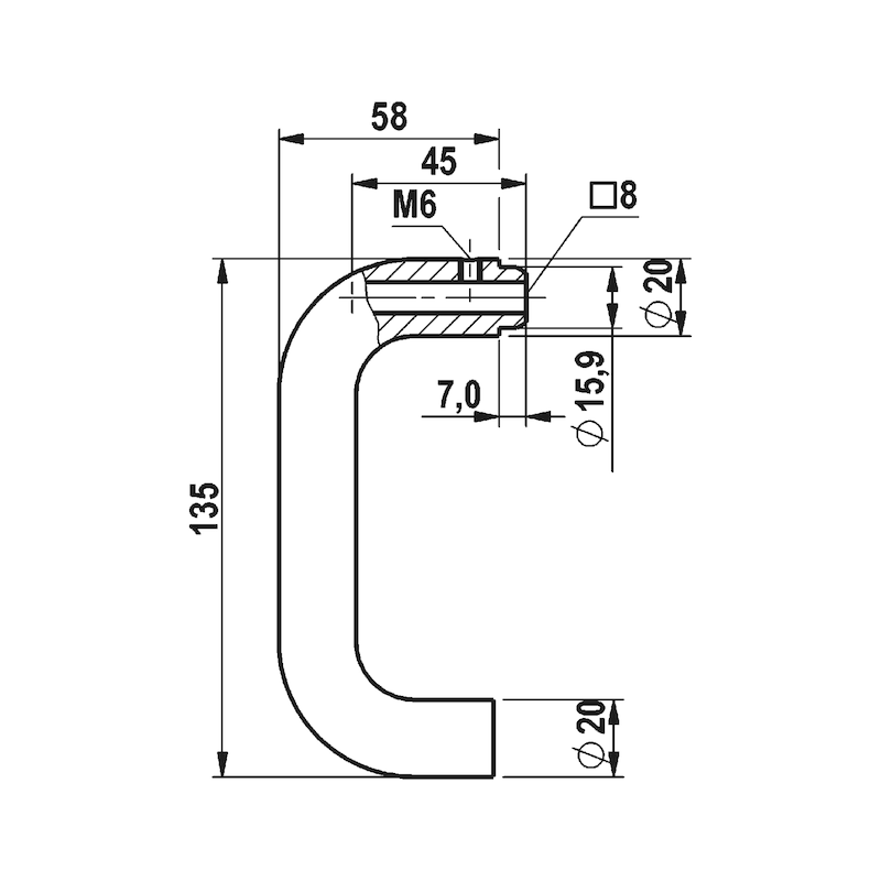 Rosetten-Garnitur-Set A 102 mit Bohrlehre - TD-SET-A2-A102-ROS-BB-BOHRLEHRE