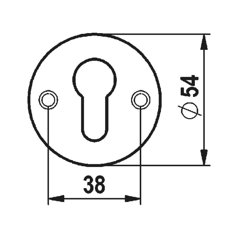 Türdrücker A 115 - TD-A2-A115-ROS-PZ-MATT