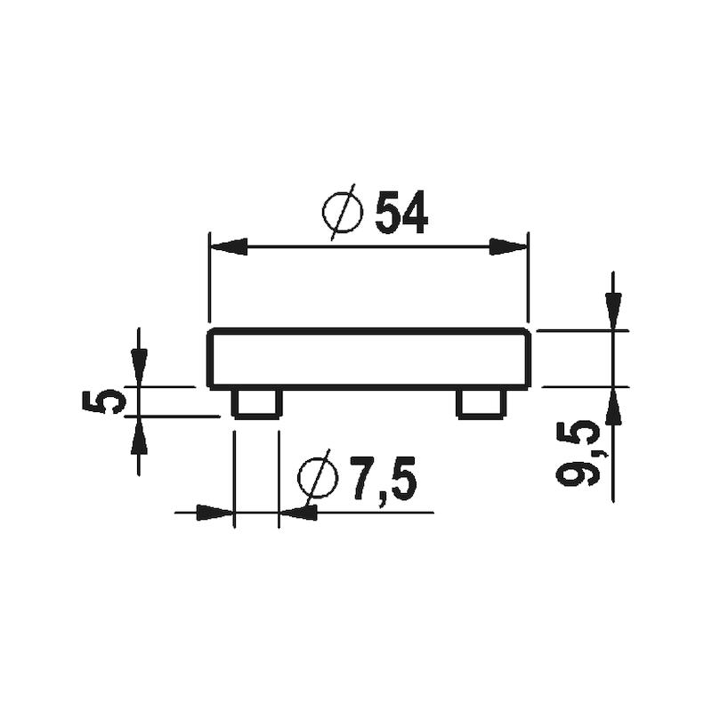 Türdrücker A 402 - TD-A2-A402-ROS-BB-MATT