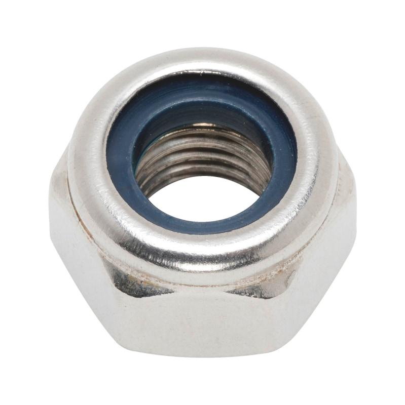 Dado esagonale, esecuzione alta con elemento di serraggio (inserto non metallico) - 1