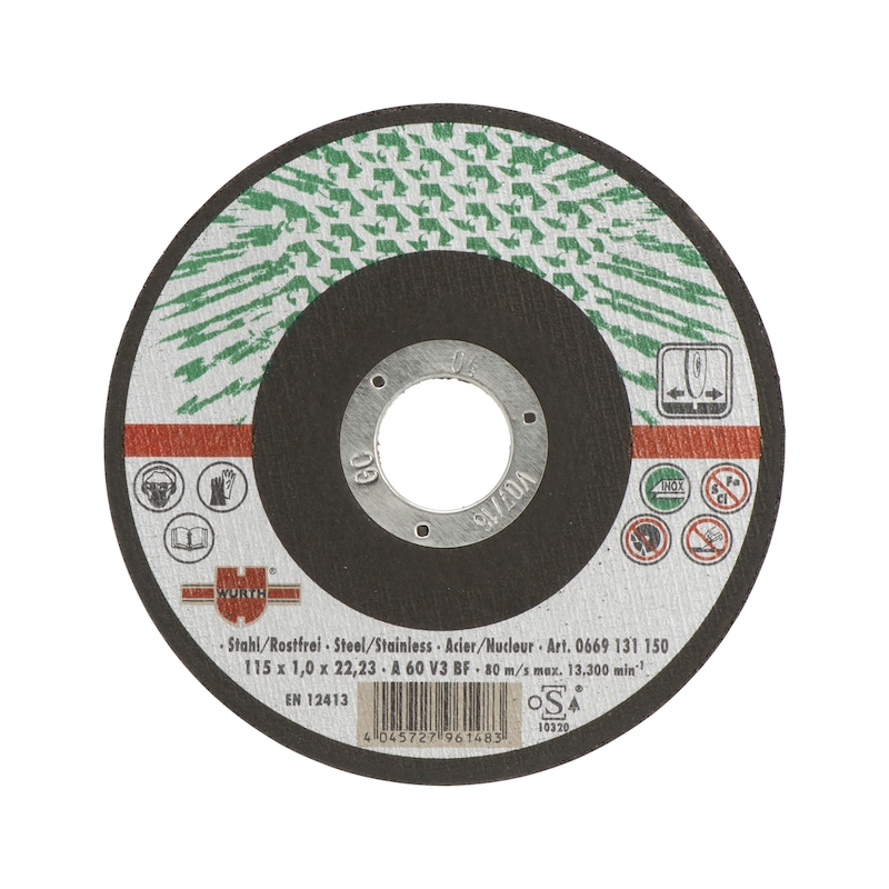 Cutting disc for stainless steel - 1