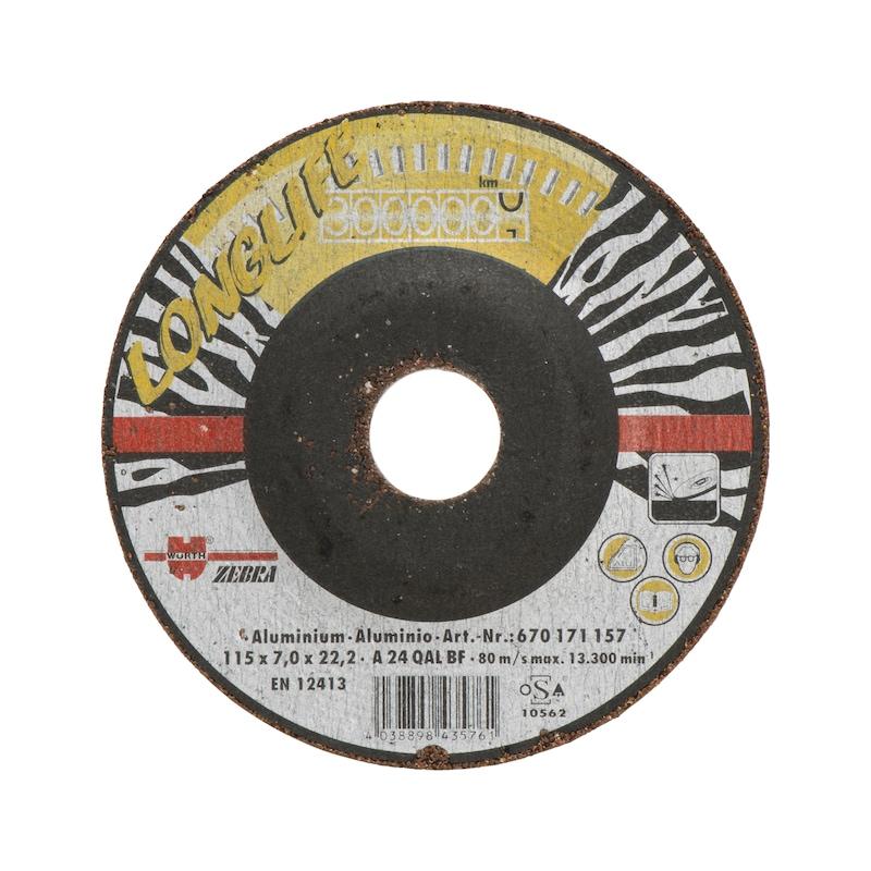 Longlife rough grinding disc for aluminium/non-ferrous metals - 1