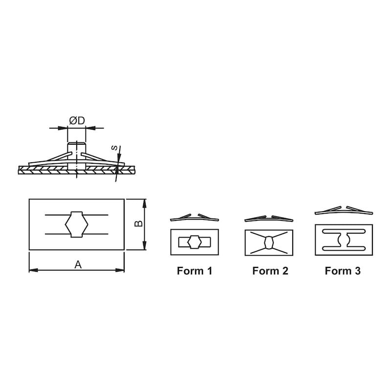 スプリングナット タイプ2 - DB/OPEL/VOLVO/BMWスピードナット 4.0MM