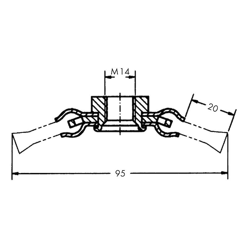 Spazzola circolare per smerigliatrice angolare TIPO CONICO - 2