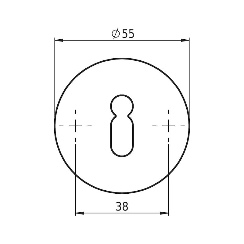 Türdrücker  A 502 - TD-A2-A502-ROS-BB-L/R-MATT