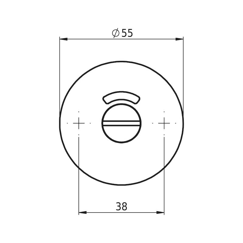 Türdrücker A 305 - TD-A2-A305-GE-ROS-WC-L/R-MATT