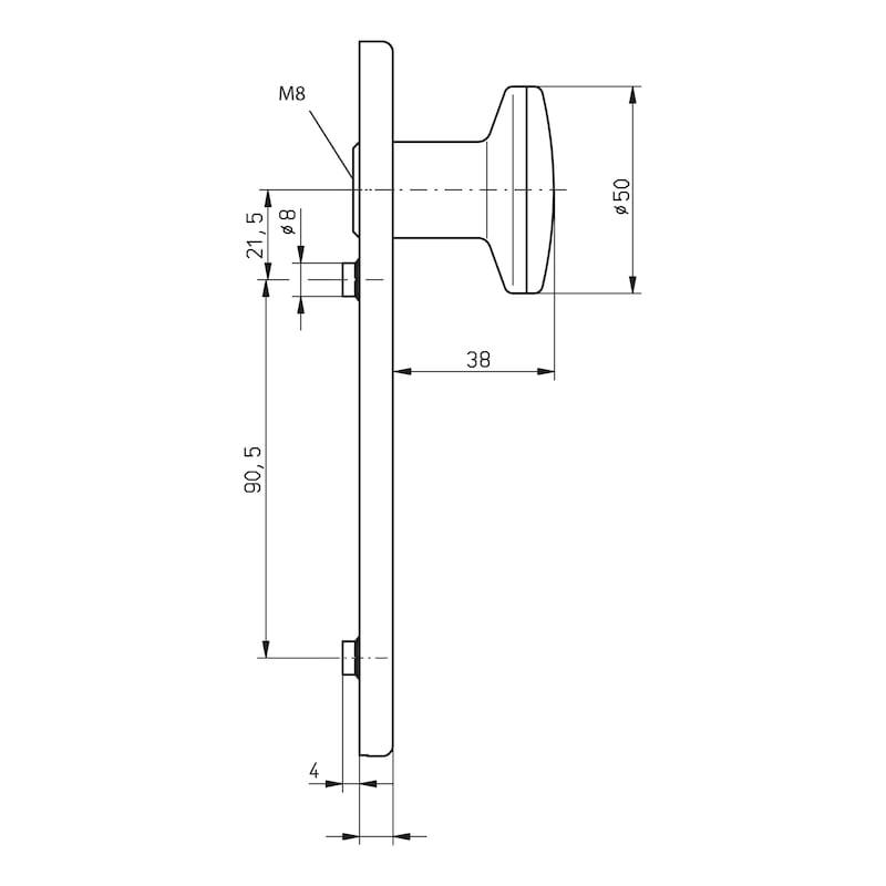 Türdrücker A 510  - TD-A2-A510/FS-WE-K-PZ-L/R-MATT