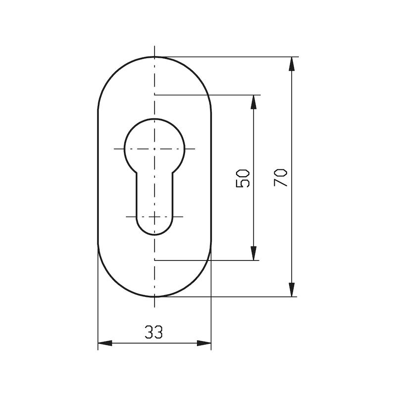 Oval rosette - 2